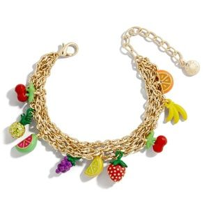 NEW BaubleBar Juniper Fruit Charm Bracelet